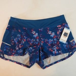 Active Life Size L Floral Performance Shorts NWT